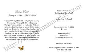 sle funeral programs wording sle memorial service invitation sle funeral announcement