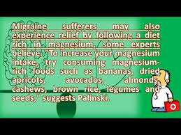 what foods are good for headaches health channel youtube