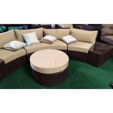 Las Vegas Outdoor Furniture by Sofa 6pcs Sectional Wicker Brown Las Vegas Patio Furniture And Garden