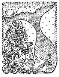 fun mermaids coloring page by chubbymermaid colouring