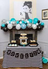 retirement party table decorations breakfast at tiffany s retirement party party ideas photo 1 of 33