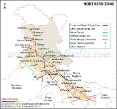northern railway zone india map