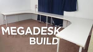 corner desk tops megadesk youtube