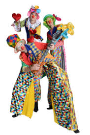 clown stilts stilt clowns trio top event shows