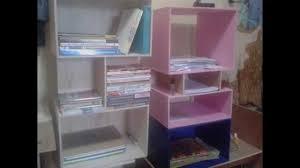 cara membuat lemari buku dari kardus bekas lemari buku minimalis kreatif youtube