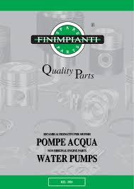 catalogo pompe acqua water pumps catalogue by finimpianti srl