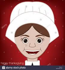 pilgrim happy thanksgiving card in vector format stock
