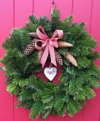 fresh wreaths traditional fresh spruce door wreath by lindy lou s originals