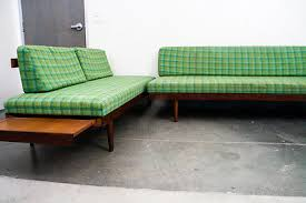 mid century modern sectional daybed platform couch sofa set pair