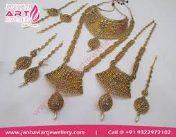 indian bridal necklace sets images Complete south indian bridal set in mumbai india janhavi art jpg