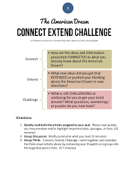 Challenge Directions American Research Project Written Conversation Connect Exten