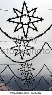 star shaped christmas lights have been installed in waldkirch
