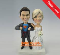 cake toppers bobblehead superman cake topper wedding cake topper bobble custom cake