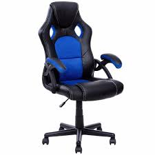 Desk Gaming Chair Goplus Pu Leather Gaming Chair Executive Seat Racing Style