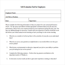 self evaluation form related for 11 employee self evaluation