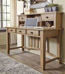 Home Office Writing Desks by Trishley Home Office Desk W Hutch Signature Design Furniture Cart