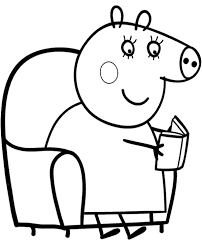 peppa pig printable coloring pages free george mummy daddy