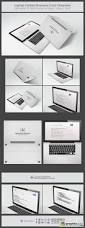 laptop folded business card template 27557 free download vector