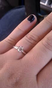 engagement rings size 8 0 5 carat rings on size 7 8 fingers post your pics