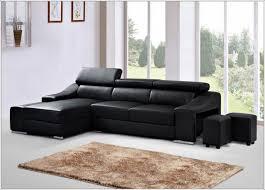 canap d angle semi cuir canapé d angle simili cuir noir idées de décoration à la maison