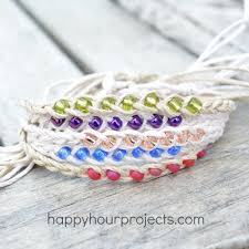 beaded woven bracelet images Wish bracelets happy hour projects jpg