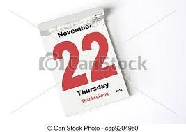stock photography of 22 november 2012 thanksgiving calendar