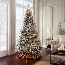 lightly flocked christmas tree 7 ft christmas tree pre lit christmas lights decoration