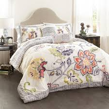Bed Comforters Sets Lush Decor 5 Aster Quilted Comforter Set King