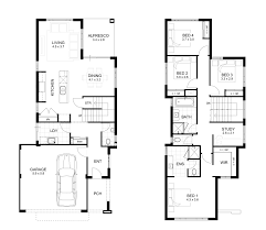 2 storey house plan with measurement design a plans for small two