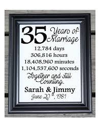 35 wedding anniversary 35th wedding anniversary cotton print 35th wedding gift 35