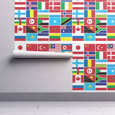 International Bunting Flags International Flag Bunting 1 Wallpaper Pixeldust Spoonflower