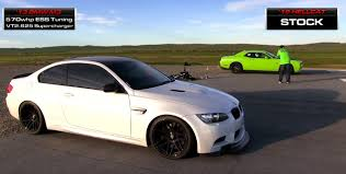 Dodge Challenger Drag Pack - drag race supercharged bmw e92 m3 vs dodge challenger hellcat