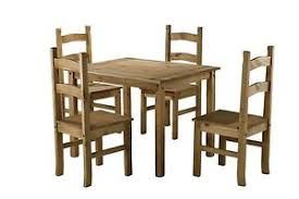 Mexican Chairs Corona Small Mexican Pine Dining Table U0026 4 Chairs Solid Wood Ebay