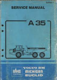 volvo bm michgan euclid a35 dump truck service manual
