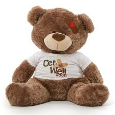 get well soon teddy adorable big get well soon teddy bears in 3 colors with custom