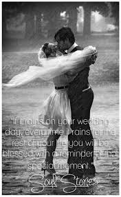 wedding quotes luck on your wedding day is luck because it signifies that