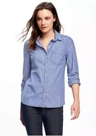 chambray blouse navy chambray shirt for casual shirts shop