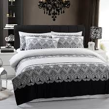 Black And White Toile Bedding Bed Linen Outstanding Grey Striped Bedding Black And White