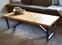 steel and wood table five four wood steel llc