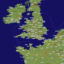 Liverpool England Map by England Rail Travel Map European Rail Guide