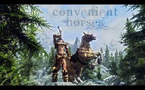 convenient horses at skyrim nexus mods and community