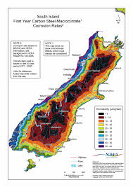 Map Of The South Ganz Corrosion Map Of The South Island