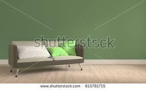 in livingroom 3d render sofa pillow livingroom wood stock illustration 615781715