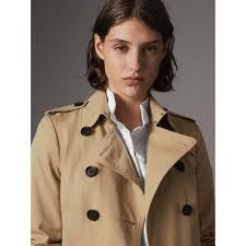 the sandringham mid length heritage trench coat in honey women