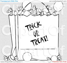 halloween transparent background royalty free rf clipart illustration of a coloring page outline