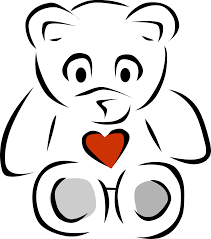 teddy bear black and white black bear outline clipart black and