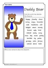 character description writing frames u0026 printable page borders ks1