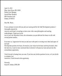 nursing interview thank you letter thank you letter after nursing