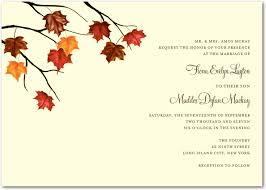 cheap fall wedding invitations wedding invitation wording etiquette fall wedding invitations