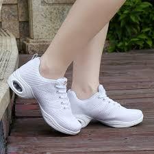 Comfort Ballroom Dance Shoes Dance Sneakers For Women White Black Women Dance Shoes Comfortable